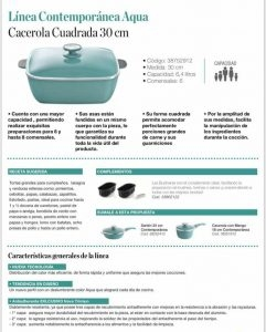Cacerola cuadrada Essen Aqua