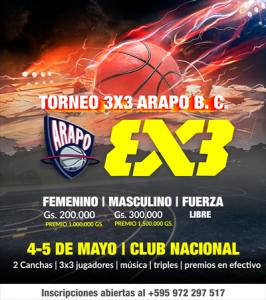TORNEO 3X3 BASQUET - ARAPO B.C.