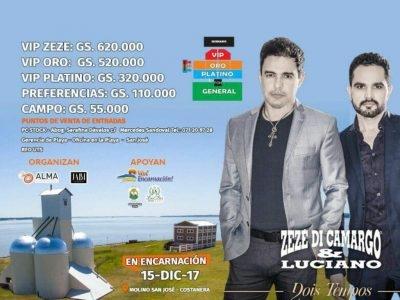 Gran show Internacional de Zezé Di Carmargo & Luciano en Encarnación