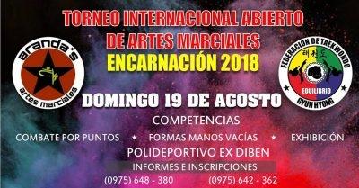 Torneo Internacional Abierto de Artes Marciales Encarnación 2018