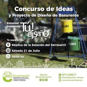 Concurso de ideas y proyecto de diseño de basureros